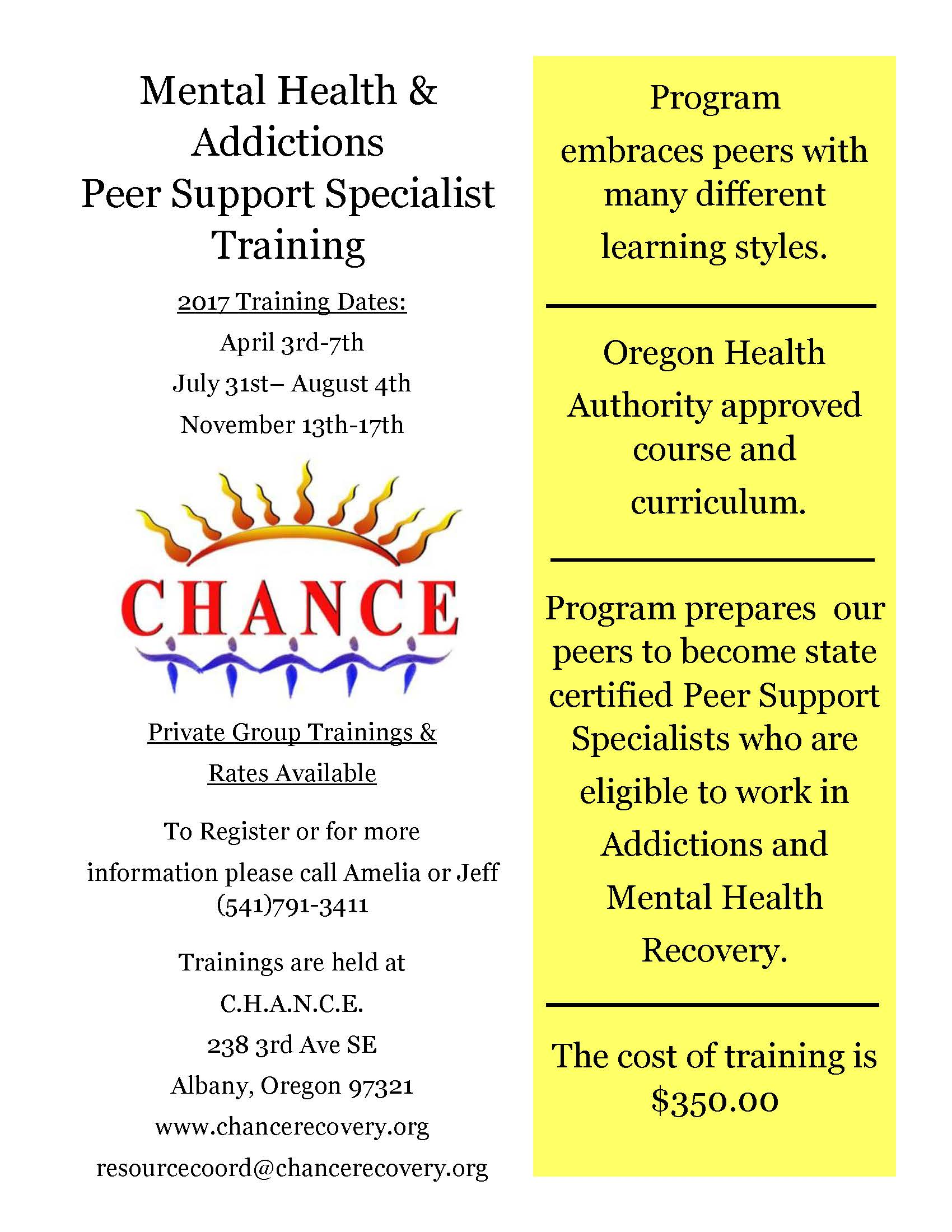 Peer Support Specialist Training